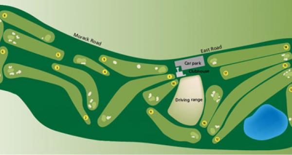 Map of Morack golf course